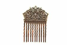Beaucoup Wedding Bride Gold Bridal Hair Comb With Swarovski Crystals BGComb