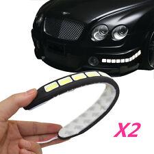 2Pcs 20W Waterproof LED 12V Daytime Running Light DRL #V COB Strip Lamp Fog Car