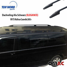 Dachreling Alu Schwarz VW T5 T6 Multivan Caravelle Langer mit TÜV ABE