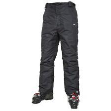Trespass Mens Ski Black Pants Waterproof Windproof Trousers Salopettes