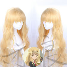 Anime Shugo Chara! Mashiro Rima Cosplay Wigs Women's Blonde Long Hair Curls Wigs