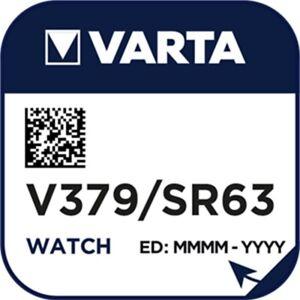 10x V379 Uhren-Batt. Knopfzelle SR63SW SR521SW VARTA