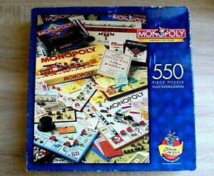 Vintage Monopoly Jigsaw Puzzle / Through the years 1998 Collectable 550 pieces
