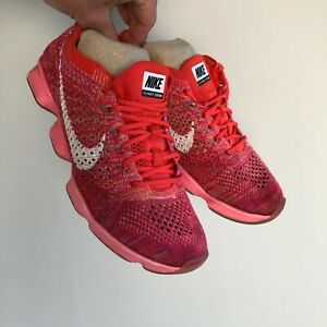 Nike Zoom Fit Agility Flyknit Crimson Sport Gym Running Trainers Size UK 3.5