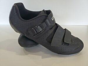 Giro Trans E70 45.5 Road Bike Shoes 11.5  Easton EC70 Carbon Black Men3-Bolt