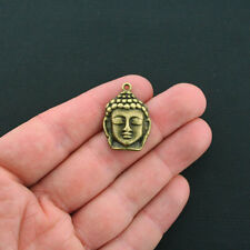 4 Buddha Charms Antique Bronze Tone - BC1267
