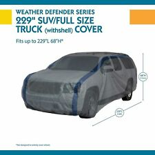 DuckCovers Weather Defender SUV Cover for SUVs/Pickup Trucks with Shell or Bed