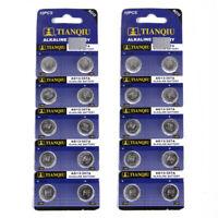 20PCS TIANQIU AG13 LR44 SR44 LR1154 357A A76 357 SR44SW Alkaline Watch Battery