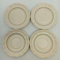 Pfaltzgraff Remembrance Saucers 5 3/4 Inch Set Of 4 Tan Beige