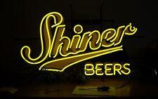 "New SHINER TEXAS Beer Bar Neon Light Sign 17""x14"" Ship From USA"