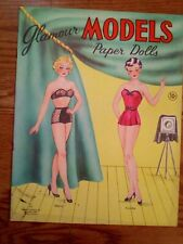 Glamour Models Paper Dolls- 4 Models with their clothes