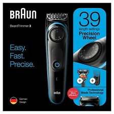 Braun BT3240 Mens Beard Trimmer, Hair Clipper & Fusion Razor, 39 Length Settings