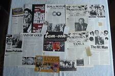 TAMLA MOTOWN - MAGAZINE CUTTINGS COLLECTION - PHOTOS, CLIPPINGS, ARTICLES X20