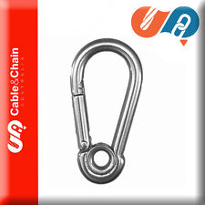 100 X 6mm*60 316-SS Snap Hook with Eye