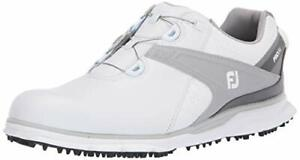 FootJoy Men's Pro/Sl Boa Golf Shoes, White/Grey, Size 10.5 tuxH