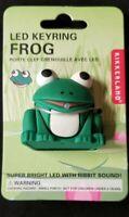 Kikkerland LED Frog Keyring Keychain w/ Sound