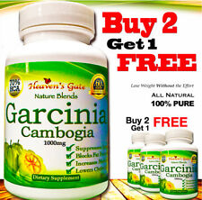 GARCINIA CAMBOGIA EXTRACT 100% PURE ORGANIC 1000mg WEIGHT LOSS 1 BOTTLE