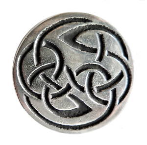 Celtic Open Knot Large Pewter Pin Badge - Hand Made in Cornwall