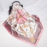 Glanz Seide Seidentuch edel Halstuch 90x90cm Schal Tuch für Damen Frauen