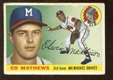 1955 Topps Baseball Card #155 Ed Mathews SP