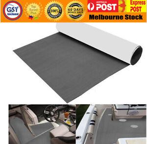 EVA Boat Decking Marine Deck Flooring Carpet With Adhesive 90x240cm Dark Grey