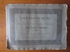 Der Freischutz Carl Maria von Weber Pianoforte Sheet music