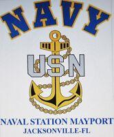 NAVAL STATION MAYPORT* JACKSONVILLE-FL *  NAVY ANCHOR* SHIRT