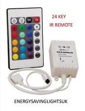 24 KEY IR REMOTE CONTROLLER BOX DC 12V FOR RGB LED 3528 5050 SMD STRIP LIGHTS