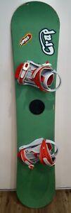 Vintage 1995 CRAP YoYo 56 Youth Snowboard w/ Drake F40 Bindings