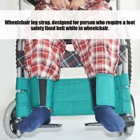 Wheelchair Footrest Leg Strap Seat Belt Medical Restraints Safety Foot Support