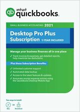 Intuit QuickBooks Desktop Pro Plus 2021 - 1-Year Subscription [PC Disc]