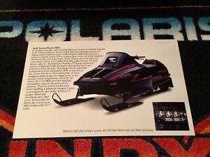 🏁 93 POLARIS INDY STORM 750 Snowmobile Poster   vintage sled 750 Triple