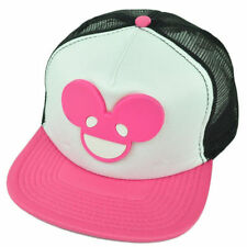 Deadmau5 Pink Logo Face Trucker Flatbill Adjustable Baseball Cap Hat Snapback