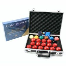 Aramith TOURNAMENT CHAMPION Snooker Ball Set & ALUMINIUM CARRY CASE