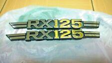 Yamaha RX-125 RX125 L/R Side Cover Emblem Badges NOS Japan x2 P/N 1V0-21781-00