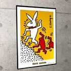 Keith Haring Poster Playboy collection Bunny on the Move With aluminum frame