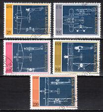 San Marino - 1973 Airplane constructions -  Mi. 1041-45 VFU
