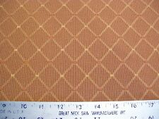 Cooper Gingham Check Raised Diamond Upholstery Fabric 1 Yd & 7 in Reddish Brown