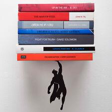 Supershelf Floating Bookshelf Superhero Black Metal Holder Artori Design New