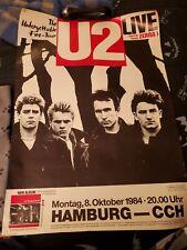 Vintage U2 Poster The Unforgettable Fire Tour 1984 Hamburg Bono