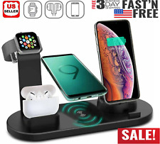 3 in 1 Charging Dock Charger Stand For Apple Watch Serie Air Pods iPhone Station
