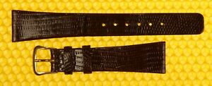 19mm Vintage HAMILTON Real-Lizard Leather Watch Strap Band BROWN <NWoT>