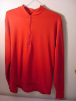 VTG NASHBAR RED LONG SLEEVE CYCLING JERSEY USA - MEN'S SIZE XL