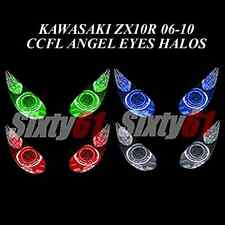 Kawasaki ZX10R 2006-2008 2009 2010 CCFL Demon Angel Eyes Halo lights rings kit