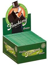 3 Boxen Smoking GREEN Slim King Size Papers 150 x 33 Blättchen Hanf Grün