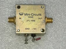 Used Mini-Circuits ZFL-1000VH 10MHz-1000MHz 12-16V Low Noise Signal Amplifier