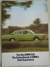 BMW 520 brochure 1973