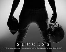 Football Motivational Poster Print Inspirational Classroom Sports Success MVP633