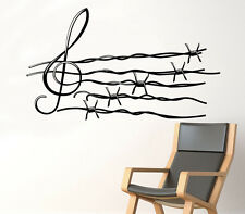 Musical Notes Wall Decal Barbed Wire Vinyl Sticker Unique Home Art Decor 28(nse)