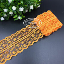 HB001 12 Yard Bilateral Handicrafts Embroidered Net Lace Trim Ribbon wholesale